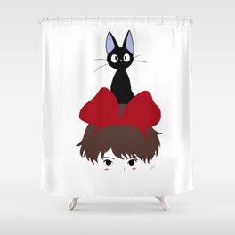 Kiki and Jiji Totem Shower Curtain