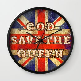 God save the Queen - GB Wall Clock