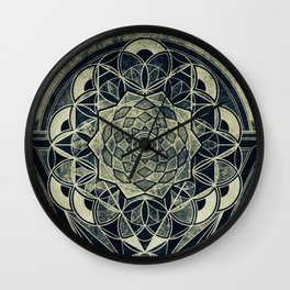 Sacred Geometry for your daily life -  Galactic OHM Wall Clock