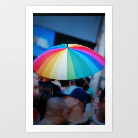 Colorful Umbrella Art Print
