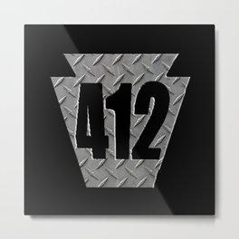 Pittsburgh 412 Keystone Steel Plate Gifts Metal Print