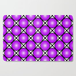 Neon Purple Pattern Cutting Board