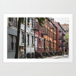 Picturesque street view in Greenwich Village, New York Art Print