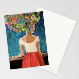 Dans la nuit Stationery Cards
