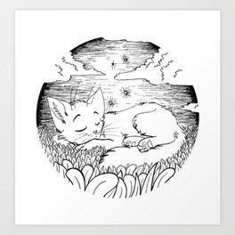 sleepin kitteh Art Print
