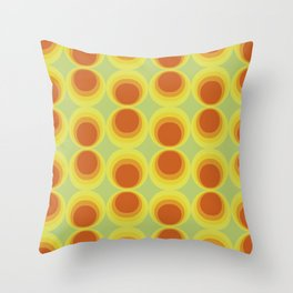 Abstract art with a vintage touch: Solar system Throw Pillow