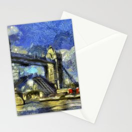 Tower Bridge and the Waverley Art Stationery Cards