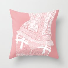 La femme n.1 _ pink edition Throw Pillow