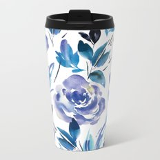Royal Blue Garden 01 Metal Travel Mug
