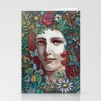 flora Stationery Cards featuring Flora by Alvaro Arteaga