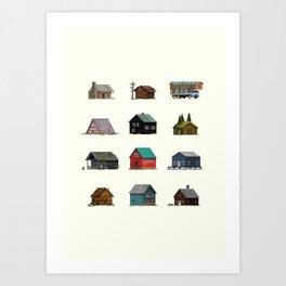 Cabins Art Print