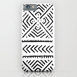 Line Mud Cloth iPhone Case