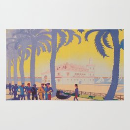 Alicante, Spain Vintage Travel Poster Rug