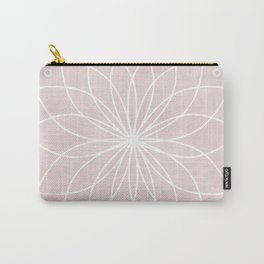 Mandala on Pink Watercolor Background Carry-All Pouch