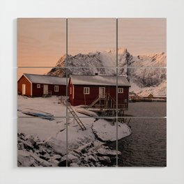 Winter in Lofoten Wood Wall Art