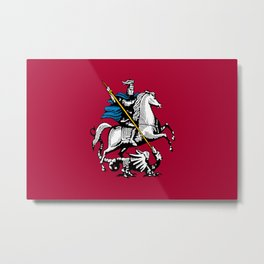 Flag of Moscow Metal Print