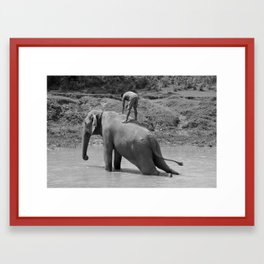 A Mahout and His Elephant Framed Art Print
