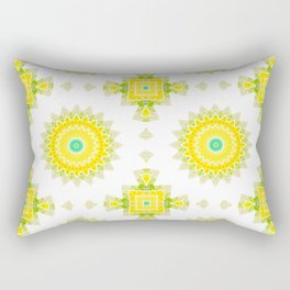 Geometrical ornamental textile pattern background Rectangular Pillow