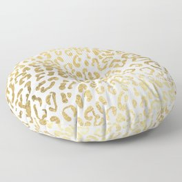 Modern Hipster Girly Gold Leopard Animal Print Floor Pillow