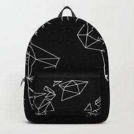 geo world map black Backpack