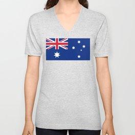 Australian flag, HQ image Unisex V-Neck