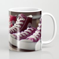 converse Mugs featuring Converse by whitney b