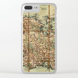 Map Of Antigua 1779 Clear iPhone Case
