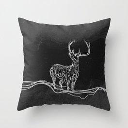 Mountain (Closer Than You Know) Black & White Throw Pillow