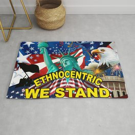 America! Ethnocentric We Stand Rug