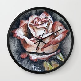 "Drawing ""Contrasting Rose"" Wall Clock"