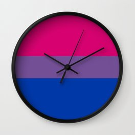 Bisexual Pride Flag Wall Clock