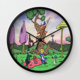 Picnic in Wonderland Wall Clock