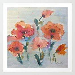 Flowers in watercolor Art Print