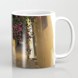 narrow cute street in greece Coffee Mug