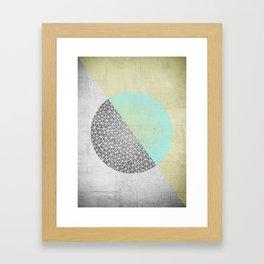Geometric doodle Gold Framed Art Print