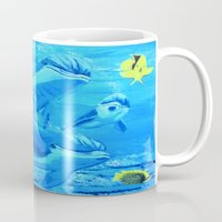 underwater Mugs featuring Underwater by maggs326
