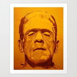The creature - orange Art Print