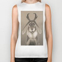 jackalope Biker Tanks featuring Jackalope by Art of Jeff Hebert