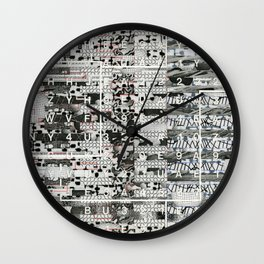 Crossing the Threshold of Sticky Potential (P/D3 Glitch Collage Studies) Wall Clock