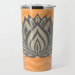 Lotus Meditation Orange Throw Pillow Travel Mug