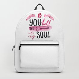You hold the key to my soul Backpack