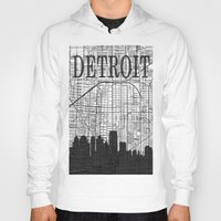 detroit Hoodies featuring DETROIT by Rustic Refresh