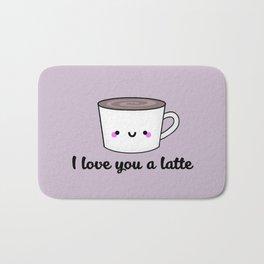 I Love You A Latte Bath Mat