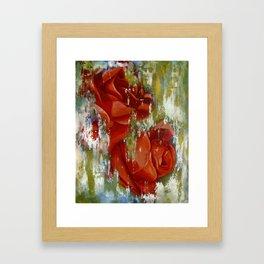 Wine and Roses Framed Art Print