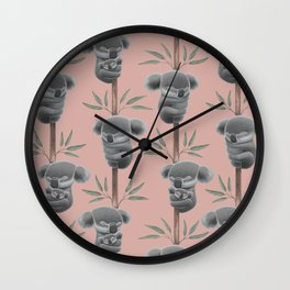 Sleeping koalas Wall Clock