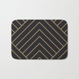 Diamond Series Pyramid Gold on Charcoal Bath Mat