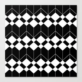 Abstract geometric pattern - black and white. Canvas Print