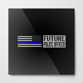 Police: Future Police Officer Metal Print