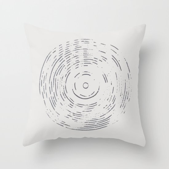 Record Black and White Throw Pillow