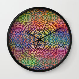 DP050-1 Colorful Moroccan pattern Wall Clock